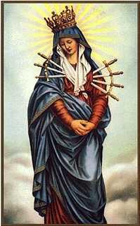 Maryja siedmiokrotnie przebita mieczem boleści