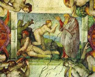 Stworzenie Ewy - Michał Anioł - Fresk w Kaplicy Sykstyńskiej