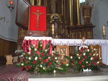 Krzyż Papieski i relikwie błogosławionego Jana Pawła II